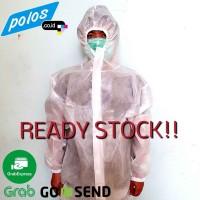 Baju APD Coverall Laminating (Tahan Air) / Hazmat Suit - Ready Stock
