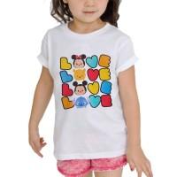 Kaos Baju anak Custom Tsum TSum love love