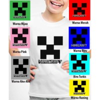 Kaos Baju anak Custom Minecraft