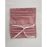 Masker Kain Katun Jepang Motif Pink