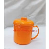 Mug Plastik Hero Cangkir Gelas Botol minum + tutup