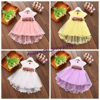 Dress Anak Girls summer flower