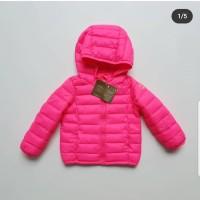 jaket musim dingin anak perempuan shocking pink berkualitas