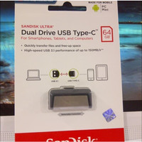 SANDISK FLASHDISK USB 3 OTG TYPE C 64GB /UP TO 150 MB/S 64 GB TYPE C