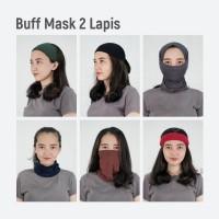MOSIRU Buff Masker Kain 2 Ply Bandana Rayon Spandex Multifungsi