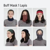 MOSIRU Buff Masker Kain 1 Ply Bandana Rayon Spandex Multifungsi