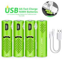 Baterai Batre Cas AA battery Rechargeable 1.2V Nimh AA Batre 1000MAH - Hijau, AA-2pcs-pack