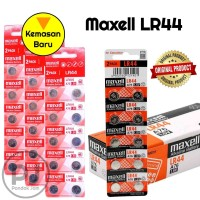 [ORIGINAL] Baterai Maxell LR44 / AG13 / L1154 / 357 / A76 Isi 10 Butir