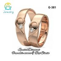 Cincin Kawin Tunangan Couple Rose Gold 925 Sepasang G-381