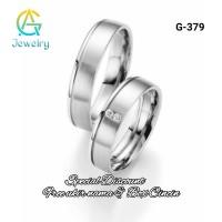 Cincin Kawin Sepasang Tunangan Couple Silver Perak G-379