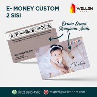 CETAK KARTU ETOLL E-TOLL CARD CUSTOM FOTO E - MONEY 2 SISI / DUA MUKA