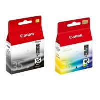 Tinta Catridge Canon Pixma 35 Black + 36 Color for ip100,ip110