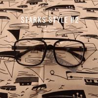 KACAMATA TONY STARKS STYLE #2 BLACK FRAME CLEAR GLASSES HEYMOU