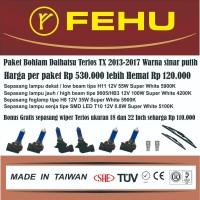 Paket bohlam Fehu plus LED untuk Terios TX 2013-2017 Warna sinar putih