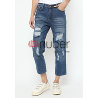 Celana Panjang Jeans Boyfriend Gold Custom Non Stretch - Fireweed