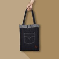 Tas Pria / Tas Wanita - Tote Bag Denim Jeans | [TB11V]