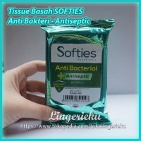 Tissue Basah Anti Bakteri merek Softies