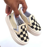 sepatu anak vans slip one checker board 21 - 43
