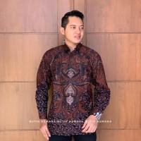 Kertosono Sogan kemeja furing batik solo pria premium lengan panjang - Panjang, M