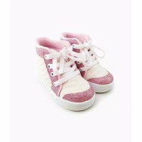 Booties Leather Prewalker for Toddlers / Sepatu Boots Anak Bayi - SILVER