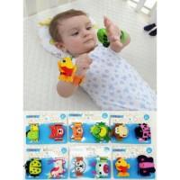 Gelang Rattle Bayi / Mainan Bayi Gelang Tangan - Boy 1pasang