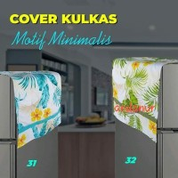 Cover kulkas/Sarung penutup kulkas/ taplak kulkas