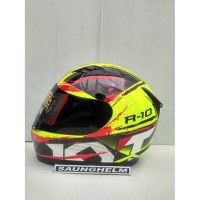 HELM KYT R10 2 YELLOW FLUO BLACK RED