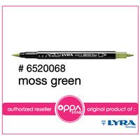 Lyra Aqua Brush Duo Pen Moss Green # 6520068