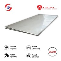 Plat Stainless Steel 304 Finish 2B 1MM x 4 x 8 Feet - Sutindo Store