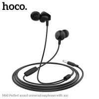 HOCO M58 Earphone In-ear Dengan Kabel Audio 3.5mm 1.2m TPE High Elasti