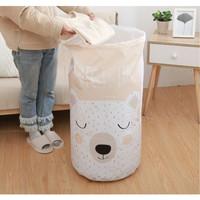 Keranjang Baju Kotor Lipat Pakaian Cucian Laundry Bag Tutup Serut 765
