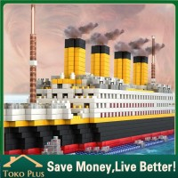1860pcs Lego Titanic Model Kapal Pesiar DIY Bangunan block mainan anak