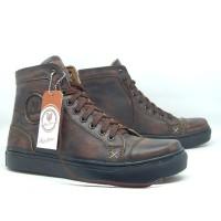 Sepatu Kulit Asli HARD MOTION STREET IN BORN1.2 BRUSHOFF SOL HITAM ORI