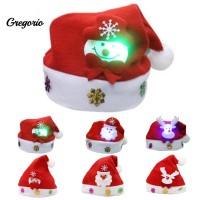 Topi Natal Santa Claus / Rusa / Snowman untuk Anak / Dewasa