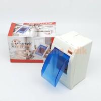 Mikotek Box Kotak MCB 2 Lampu LED dgn tutup Inbow Outbow Sekring Fuse