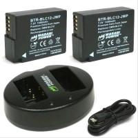 Wasabi Power Leica BP-DC12 BP-DC12U 18729 Paket Battery 2-Pack wi
