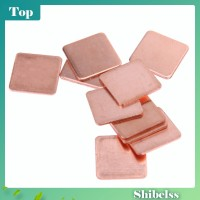 【 shib 】 10 Pcs 15mmx15mm 0.3mm ke 2mm Heatsink Copper Shim