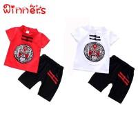winners Chinese Style Baby Boy Short Sleeve Printed T-Shirt