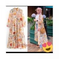 COD Long Tunik Outer Zara Floral Bukan Ori Bangkok Impor Auter Tunic D