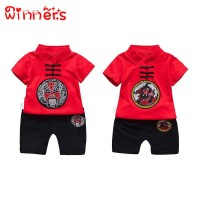 winners Baby Boys Girls Chinese Tang T-shirt + Shorts Pants Outfit