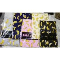 Jilbab Segi empat banana ori ima scarf katun pisang motif