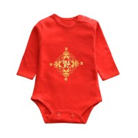 winners Infant Baby Boys Girls Chinese Style Printed Jumpsuit Romper