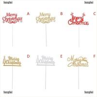 FF 5Pcs Topper Cupcake Tun Merry Christmas untuk Dekorasi Kue Pesta