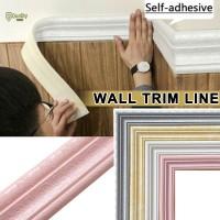 Wall Trim Line Skirting Border 3D Pattern Sticker Decor Self