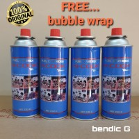 tabung gas mini hi-cook isi 4 kaleng dan bubble wrap