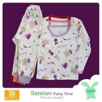 3PCS ARUCHI Setelan Kaos Panjang Celana Panjang Motif Size XXL