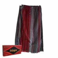 Celana Sarung Mira Motif Garis Vertikal Untuk Dewasa Warna Merah