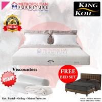 Springbed KING KOIL Viscountess 160 x 200 FULL SET Kasur Spring bed