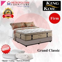 Springbed KING KOIL Grand Classic 100 x 200 FULL SET Kasur Spring bed