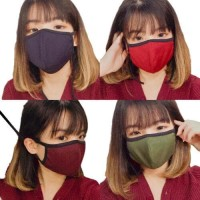 Masker Kain Warna Tali /Hijab Cotton